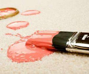 Quitar manchas de pintura en alfombra